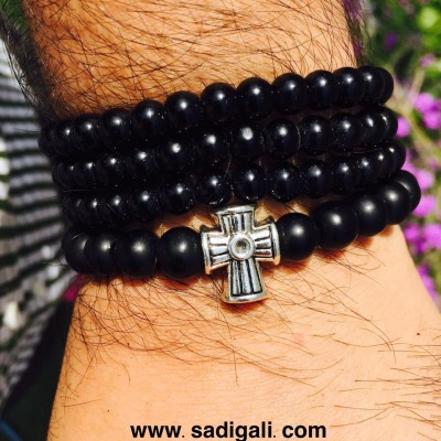 Cross Sign Beads Bracelet