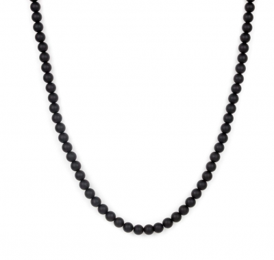 Black Long Men Neck Chain