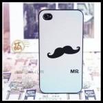 Mr Mustache Mobile Back Sticker
