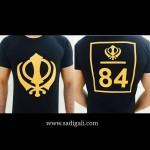 Khanda 84 Black Tshirt