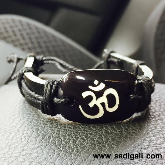 Black Om Bracelet
