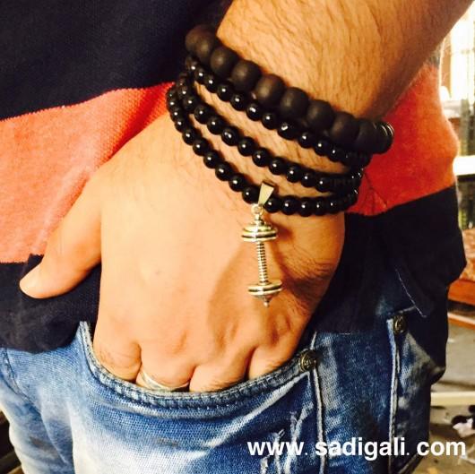 Dumbbell hanging bracelet