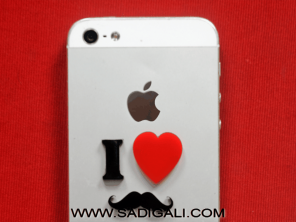 I Love Muchh: Mobile Acrylic Sticker