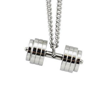 Dumbbell Men Neck Chain
