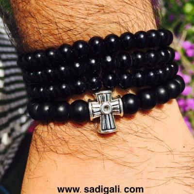 Cross Sign Beads Bracelet