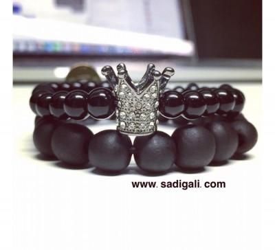 King Crown Beads Bracelet