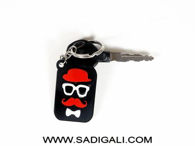 Desi English Babu Acrylic Key Chain