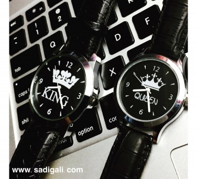 King Queen Couple Watch