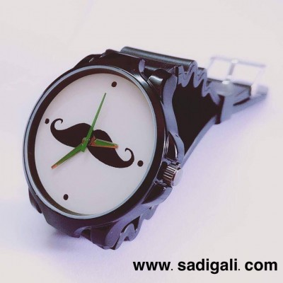 Black Mustache Premium Black Watch