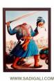 Dhan Baba Deep Singh Ji Framed Print 16 x 20 Inches