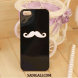 Black Cover White Mustache All Phones