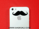 XL Mustache Mobile Stickers