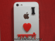 I Love Sardari: Mobile Acrylic Sticker
