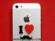 I Love Muchh: Mobile Acrylic Sticker