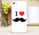 I Love Mustache Mobile Cover
