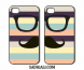 Apple Iphone Pair Back Cover Black Mustache And Goggles