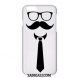 Classy Goggle Tie Mustache Back Cover All Phones